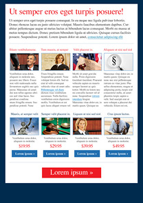 Law Group Navy-Blue newsletter template