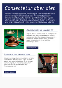 Email Bureau Navy Blue newsletter template