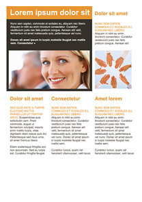 Smile Company Orange newsletter template