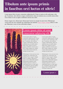 Natural Sun Purple newsletter template