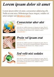 Helping Hands Beige newsletter template