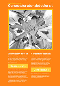 Meeting Orange newsletter template
