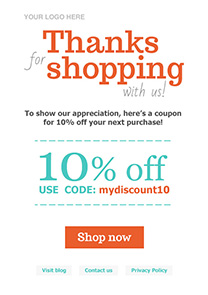 Thanks for shopping 1 newsletter template