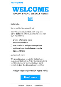 Welcome Newsletter 1 newsletter template