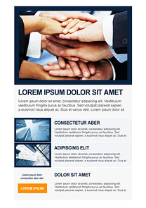 Agreement Navy-Blue newsletter template