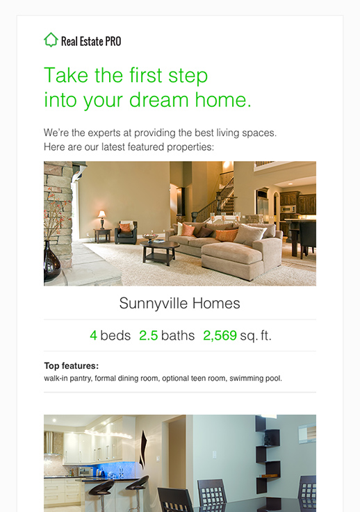 Real Estate Newsletter Templates  Email Marketing  Getresponse