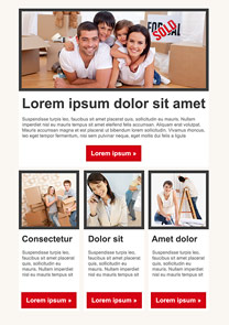 Removal Red newsletter template