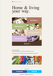 Home & living newsletter template
