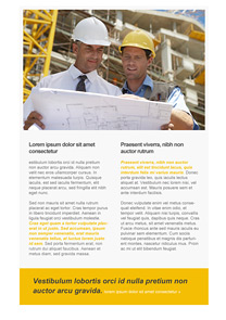 Engineers Yellow newsletter template