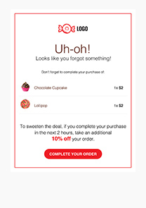 Abandoned Cart newsletter template