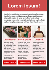 Online Shopping Pink newsletter template