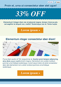 Better Results Blue newsletter template