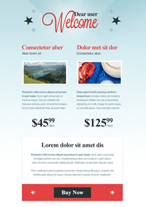 Starred newsletter template