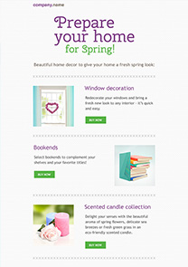Spring Decor newsletter template