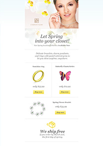Spring Sale newsletter template