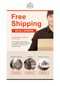 Free Shipping Day newsletter template