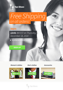 Free Shipping newsletter template