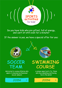 sport camp newsletter template