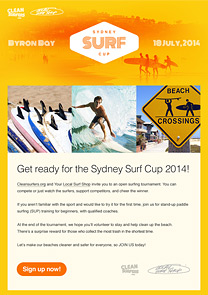 surf course newsletter template