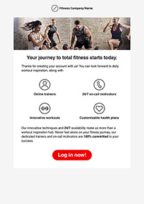 Fitness Journey newsletter template