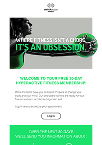 Active Gym newsletter template