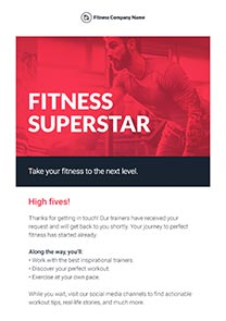 Super Fitness newsletter template