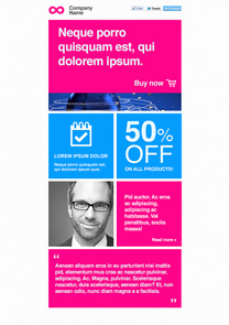 Science Pink newsletter template