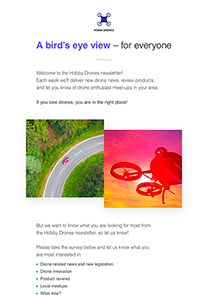 Hobby Drones newsletter template