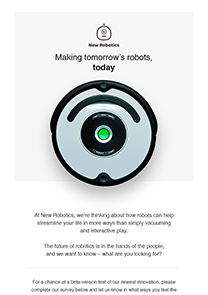 New Robotics newsletter template