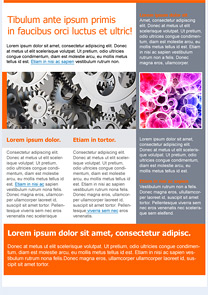 Technology Orange newsletter template
