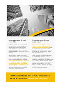 Urban Zone Yellow newsletter template
