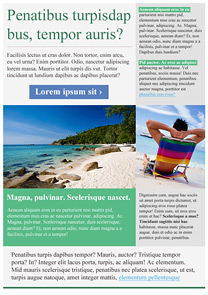 Leisure Green newsletter template
