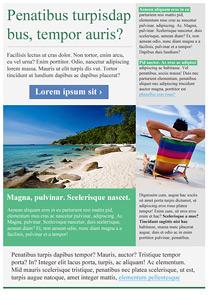 Leisure Green newsletter template