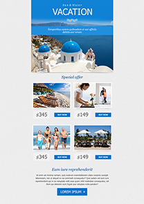Greek Vacation newsletter template