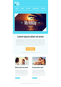 My Dream Holiday newsletter template