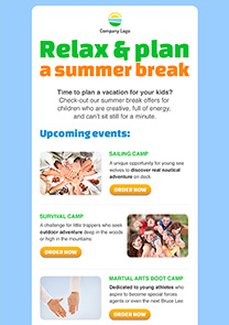 Relax and plan newsletter template