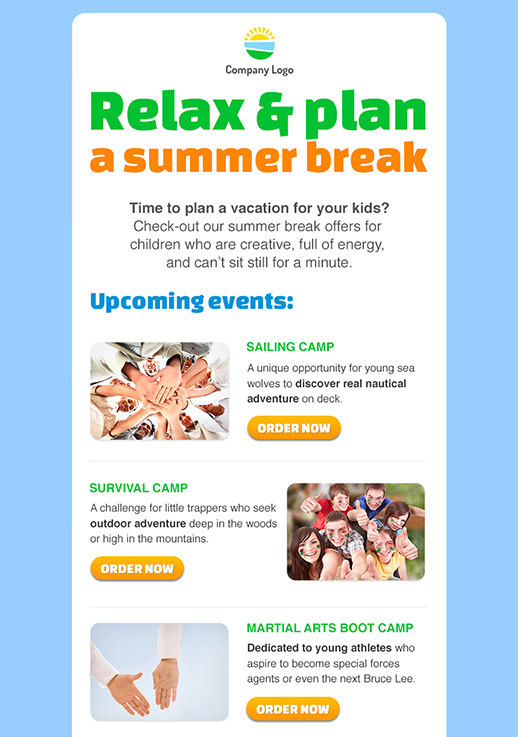 Travel And Holiday Newsletter Templates  Email Marketing  Gr