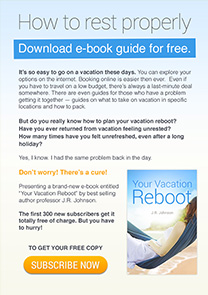 Your vacation reboot newsletter template