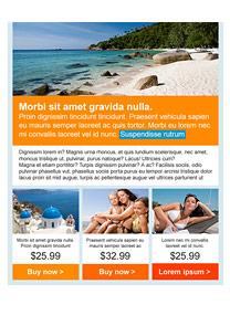 Paradise Beach Orange newsletter template