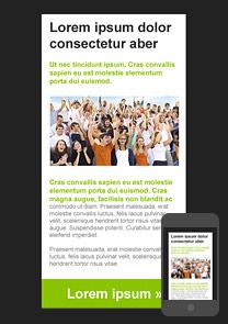 Entertaining Green newsletter template