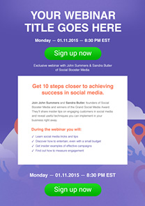 Free newsletter templates html email templates getresponse webinar invitation newsletter template stopboris Choice Image