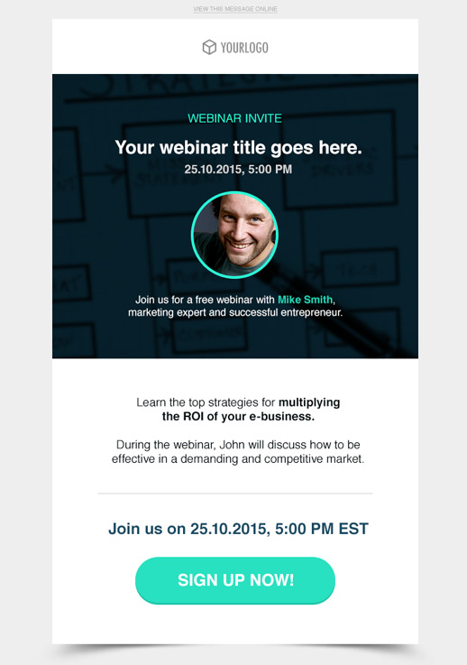 Webinar invitation newsletter template